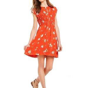 Free People Greatest Day Smocked Floral Mini Dress